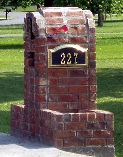 Brick Mailbox