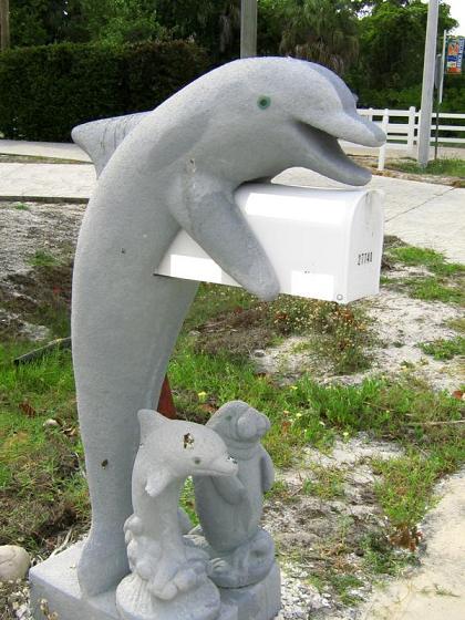 Dolphin Sculpture mailbox