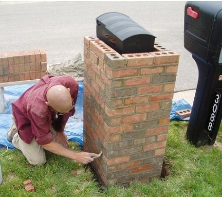 How To Build A Brick Mailbox Build A Mailbox