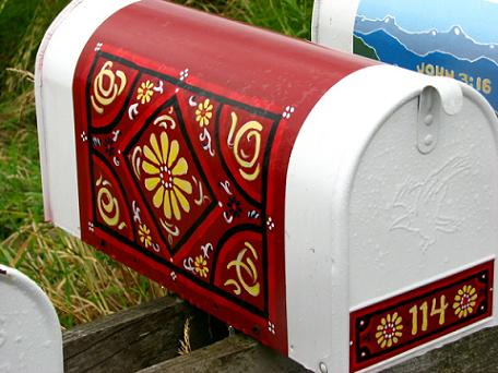 Nicely painted mailbox